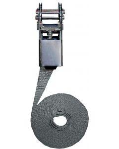 Cincha de sujeción con trinquete modelo simple 25mm, L : 5m, R : 1000Kg