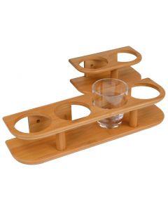 Soporte 2 vasos de Bambú