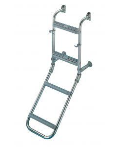 Escalera inox plegable