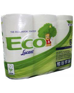 Papel higiénico biodegradable Por 6