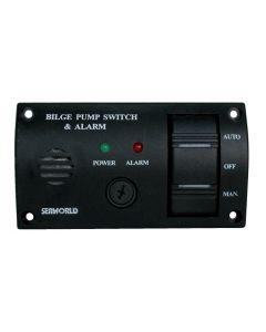 Interruptor ON - OFF - AUTO + buzzer Dim. 115 x 65 mm