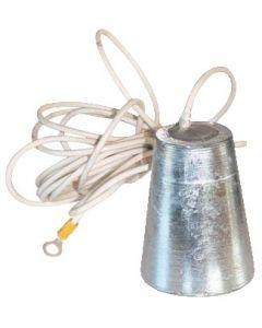 Ánodo aluminio a colgar