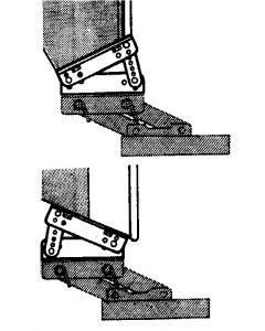 Soporte articulado aluminio Adaptador espejo de popa inclinado