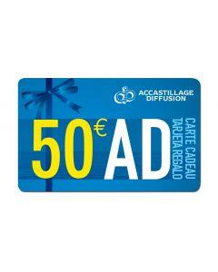Tarjeta regalo 50 €
